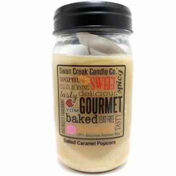 Swan Creek Candle - Salted Caramel Popcorn 24 oz Jar