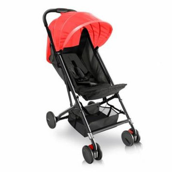 Jovial Compact Portable Folding Baby Stroller, Black/Red