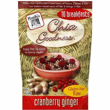 Ruth's Chia Goodness Cranberry Ginger Cereal, 12 oz, (Pack of 6)