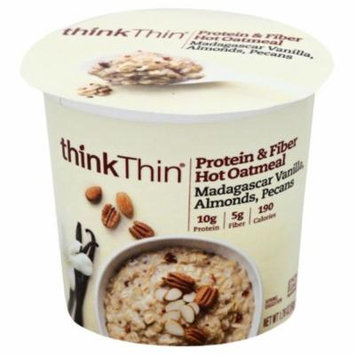 thinkThin Pecans Almonds Madagascar Vanilla Protein & Fiber Hot Oatmeal, 1.76 Oz (Pack of 6)