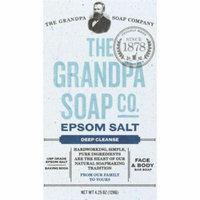 The Grandpa Soap Company Epsom Salt Face & Body Bar Soap, 4.25 Oz