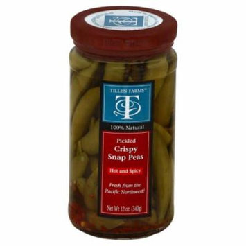 Tillen Farms Hot and Spicy Crispy Pickled Snap Peas, 12 Oz (Pack of 6)