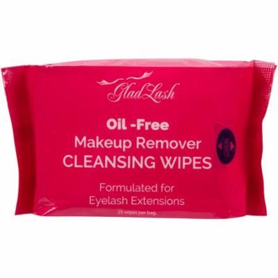 GladGirl | Oil-Free Makeup Remover Wipes Formulated for Eyelash Extensions | Paraben Free & Vegan