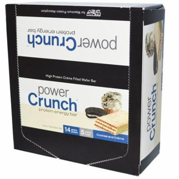 BNRG, Power Crunch Protein Energy Bar, Cookies and Crème, 12 Bars, 1.4 oz (40 g) Each(pack of 2)