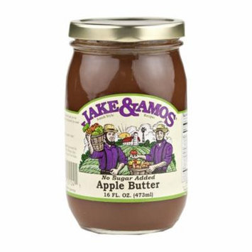 Jake & Amos Apple Butter With Spice No Sugar Added 16 oz. (2 Jars)