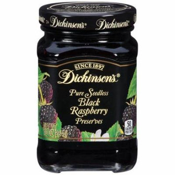 Dickinson's Pure Seedless Black Raspberry Preserves 10 Oz (Pack of 6)