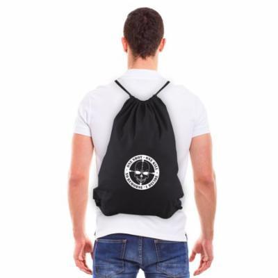 One Shot One Kill No Remorse Eco-friendly Reusable Drawstring Bag Black