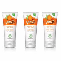 Yes To Carrots Normal To Dry Skin, Moisturizing Hand Cream, 3 Oz (Pack of 3)