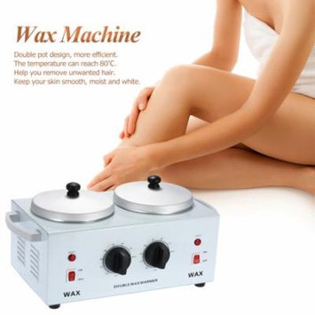 Anself 220W Double Pot Wax Machine Waxing Electric Wax Heater for Spa Hair Removal Instrument