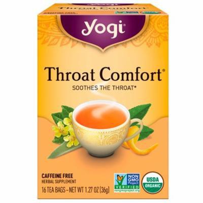 Yogi Tea, Organic, Throat Comfort, Caffeine Free, 16 Tea Bags, 1.27 oz (pack of 3)