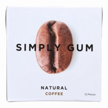 Simply Gum All Natural Gum - Coffee - Pack of 12 - 15 Count