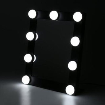 Hollywood Makeup Vanity Mirror with Light Tabletops Lighted Mirror with Dimmer Stage Beauty Mirror Christmas Gift Small (Black)