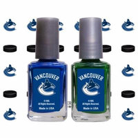 Vancouver Canucks 2-Pack Nail Polish with Nail Decal - No Size