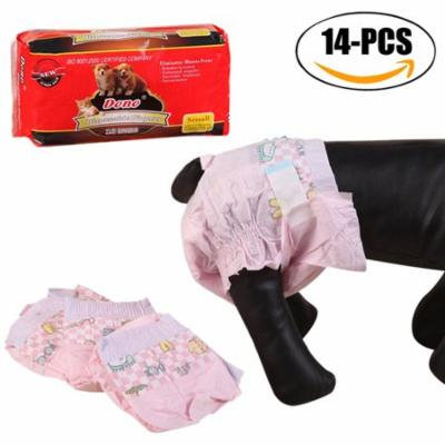 14Pcs Dog Diapers set, Legendog Disposable Super Absorbent Dog Wraps Dog Belly Bands for Dogs Puppies