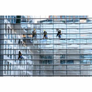 LAMINATED POSTER Glass Facade Window Cleaning Window Cleaner Facade Poster Print 24 x 36