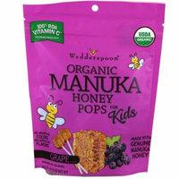Wedderspoon, Organic Manuka Honey Pops For Kids, Grape, 24 Count, 4.15 oz(pack of 12)