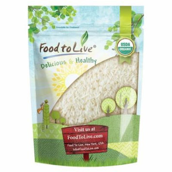 Organic Jasmine Rice by Food to Live (Raw White Rice, Whole Grain, Non-GMO, Bulk, Product of the USA) — 1 Pound