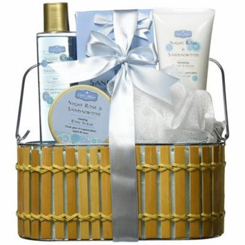 Night Rose and Sandalwood Bath Gift Set, NIGHT ROSE AND SANDALWOOD BATH GIFT SET By Zingz & Thingz