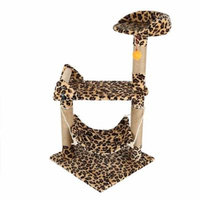 M32 37''Pet Cat Tree for Small Cat Climbing Frame Toy Cat Scratching Posts Cat Scratch Board Jumping Ship Training Toy Cat Furniture