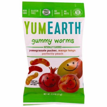 YumEarth, Gummy Worms, Assorted Flavors, 12 Packs, 2.5 oz (pack of 1)
