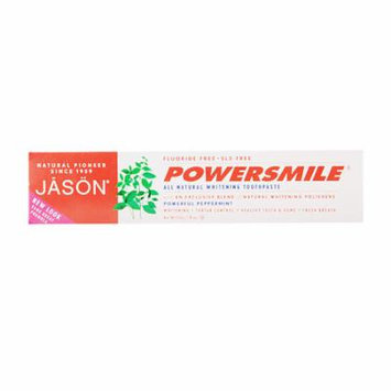 JASON Power Smile All Natural Whitening Toothpaste Peppermint 6.0 oz.(pack of 6)