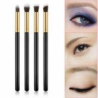 4PCS Makeup Cosmetic Tool Eyeshadow Eye Shadow Foundation Blending Brush Set