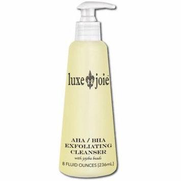 AHA/BHA Exfoliating Cleanser with JoJoba Beads 8 Oz Acne Facial Wash & Scrub