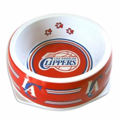 Heavy Duty Pet Bowl, Los Angeles Clippers Portable Plastic Dogs Pet Food Bowl