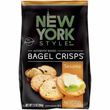 New York Style Sesame Bagel Crisps 7.2 Oz Bag (Pack of 12)