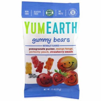 YumEarth, Gummy Bears, Assorted Flavors, 12 Packs, 2.5 oz (71 g) Each(pack of 1)