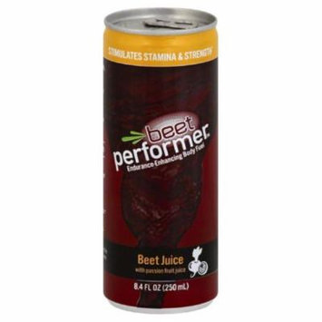 Beet Performer Beet Juice with Passion Fruit Juice, 8.4 Fo (Pack of 12)