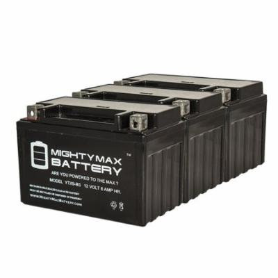 YTX9-BS 12V 8AH Replaces Power Sport Series SLA Battery - 3 Pack