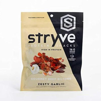 Stryve Beef Biltong, Zesty Garlic, 4.0oz