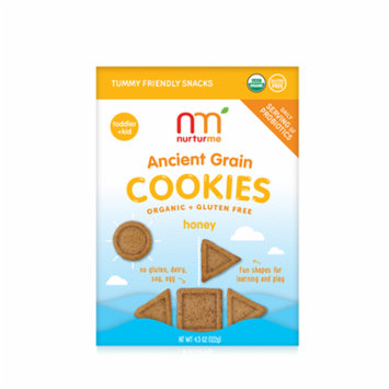 NurturMeOrganic Ancient Grain Cookies with Probiotics for Kids: Honey (4.3 oz)