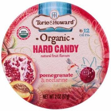 Torie & Howard, Organic, Hard Candy, Pomegranate & Nectarine, 2 oz(pack of 12)