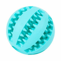 Watermelon Design Soft Rubber Bouncy Ball Dog Chew Toy Bite-Resistance Strong Tooth Cleaning Molar Toy for Pets Size M (Light Blue)