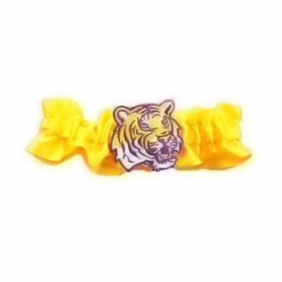 Divine Creations DVC-G720-LSU-YW Lsu Tigers Ncaa Satin Garter [yellow]