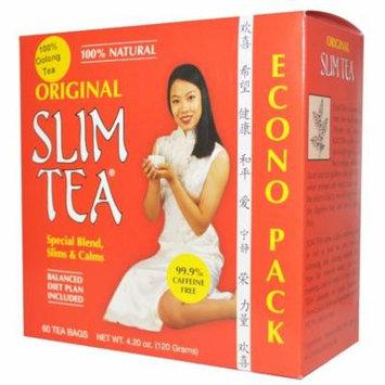 Hobe Labs, Slim Tea, Original, 60 Tea Bags, 4.20 oz (pack of 6)