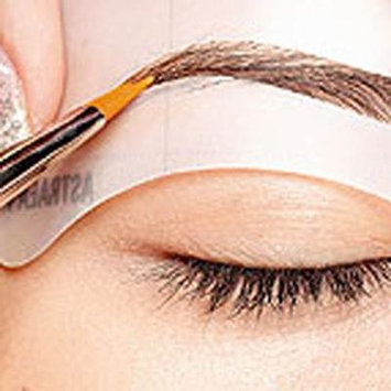 Girl12Queen 24Styles/Set Reusable Eyebrow Stencil Brow Shaping Template Makeup Beauty Tool