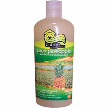 Hawaii Bubble Shack All in 1 Ultimate Kukui & Shea Body Wash Juicy Pineapple 8 Bottles