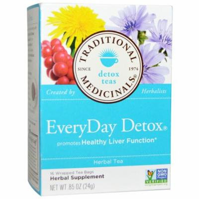 Traditional Medicinals, Detox Teas, EveryDay Detox, 16 Wrapped Tea Bags, .85 oz (pack of 2)