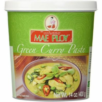 Mae Ploy Thai Green Curry Chili Paste 14oz Jar