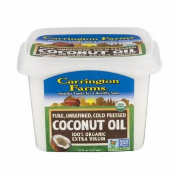 Carrington Farms 100% Organic Extra Virgin Coconut Oil, 12 oz, Pack of 3, 36oz Total