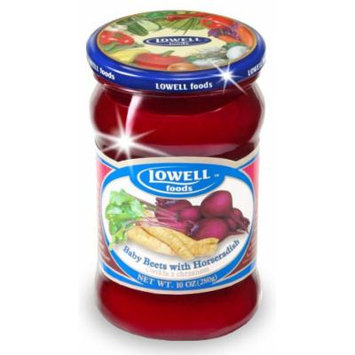 Lowell Foods Baby Beets with Horseradish, 9.8700-Ounce (Pack of 10)