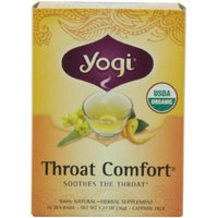 Yogi Throat Comfort, Herbal Tea Supplement, 16-Count Tea Bags (Pack of 6), Garden, Lawn, Maintenance