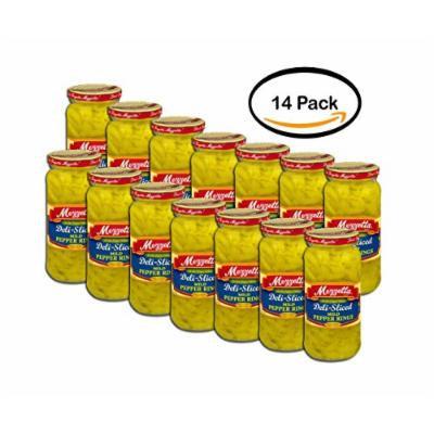 PACK OF 14 - Mezzetta Deli-Sliced Mild Pepper Rings, 16 fl oz