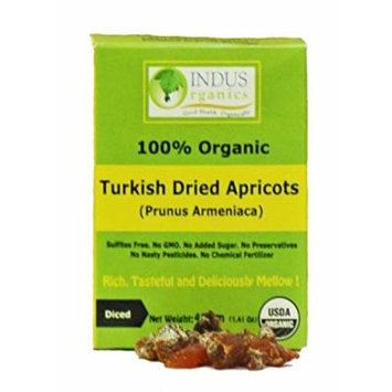 Indus Organics Jumbo Turkish Apricot Diced, 40 gm (Pack of 108), Sulfite Free, No Added Sugar, Premium Grade, Freshly Packed