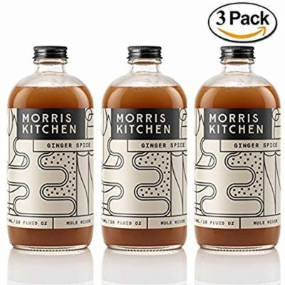Morris Kitchen Ginger Spice Mule Mixer - 16floz (3 Pack): Vegan Gluten-Free & Non-GMO Cocktail mix w/ Cold Pressed Ginger Juice & Spices (GINGER SPICE, 3 PACK)