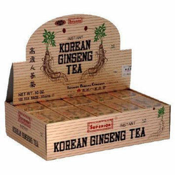 Superior Instant Korean Ginseng Tea - 100 Tea Bags-pack of 1 by Superior Trading Co.