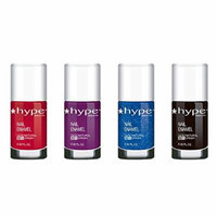 Nail Polish Set by Hype Nails - Non Toxic Chemical Free Gift Set - Professional Nail Salon Quality - Fashionable Colors (Pack of 4 0.3 fl oz) - Glam at Night